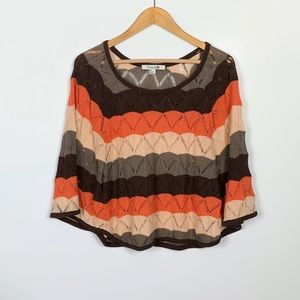 FOREVER 21 crochet style knit poncho size S